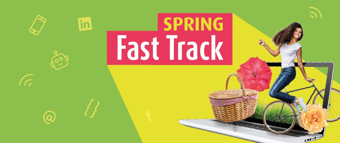 Nas férias da Páscoa, jovens adultos poderão ficar um passo à frente com as Spring Fast Tracks
