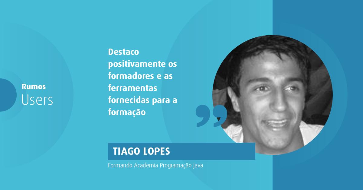 Tiago Lopes, do futebol profissional para a programação