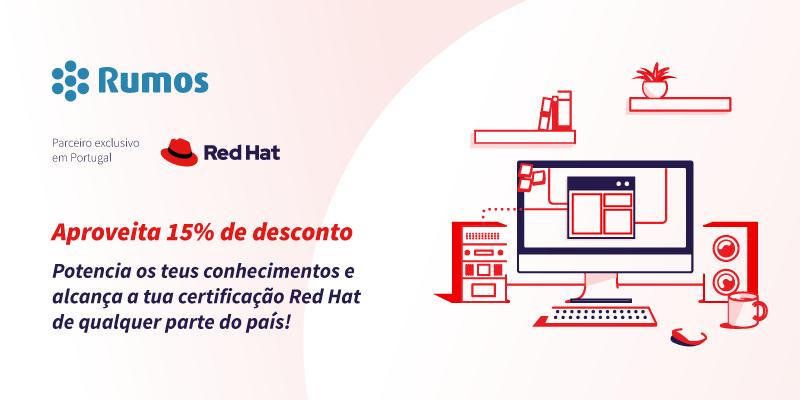 Campanha Red Hat até final do ano em formação e exames remotos!
